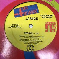 Janice Bye-Bye Vinyl Record Original 1986