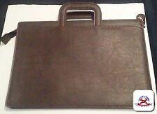 brown Leather Hazel Portfolio with retractable handles