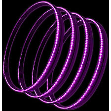 "Oracle 4215-009 15"" Pink LED Illuminated Wheel Rings Rim Light Kit w/ Switch"