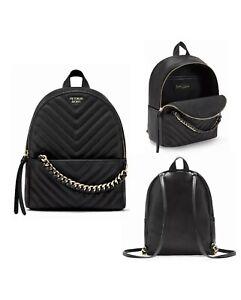 Victoria's Secret V-quilt  Mini City Backpack Black New
