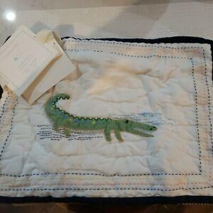 Pottery Barn Jungle Safari Baby Alligator Sham Quilted Small Crib Pillow Sham