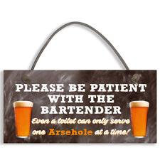 Bartender FUNNY Pub Landlord Alcohol Gift Hanging Plaque Man Cave Bar Sign #1114