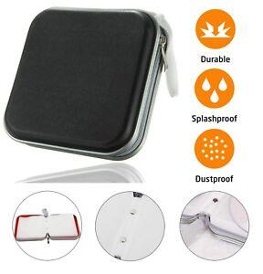 CD DVD Carry Case Disc Storage Holder CD Sleeve Wallet Ideal for In Car BLACK