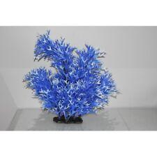 Acuario gigante de fondo plantas de plástico azul y blanca puntiagudas 26 X 10 X 38 Cm