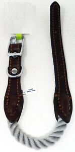 TOP PAW Brown Leather Dog Collar (L) (NEW)