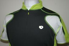 Pearl Izumi Microsensor Grey/Neon Green Cycling Jersey Shirt Size L Bike Top