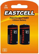 ☀ ☀ ☀ ☀ ☀ 2 x cr2 batería de litio (1 blistercards a 2 pilas) eastcell