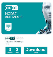 ESET NOD32 Antivirus 2017 | 3 PCs - 3 Jahre | Download-Version