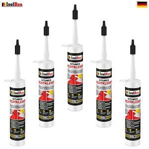 Bitumenkleber 5 x 310 ml Dichtstoff Dachdicht Bitumen Dichtmasse Schindelkleber