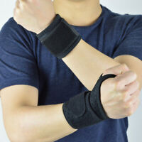 Qu_ 1Pcs Sports Wristband Wrist Brace Protector Gym Exercise Training Support Ba
