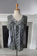 PRETTY ANGEL NWT Gray Cute Sexy Fun Feminine Lace Tank Top Camisole XL Gothic