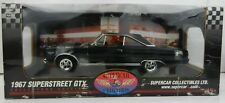 1:18 Highway 61 SUPERCAR COLLECTIBLES Black 1967 Plymouth SUPERSTOCK GTX *NIB*