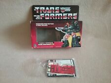 Vintage 1985 G1 Transformers Autobot Hoist Empty Box and Papers