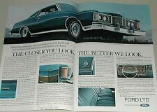 1974 FORD LTD 2-page advertisement, Ford LTD Brougham, big photo