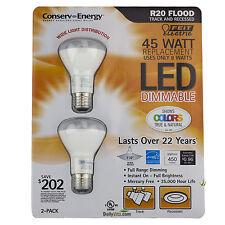 2 x Feit R20 Flood Dimmable 8w/45w LED Light Bulb 450 Lumens 110° Degree 1 Pack