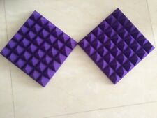 Acoustic 25 Density Purple Pyramid Recording Studio Soundproof Sponge Foam 10pcs