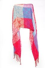 Colorful Ladies Wrinkled Pattern Multi Square Design Statement Scarf (S225)