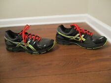 Used Worn Size 13 Asics Gel Nimbus 14 Shoes Black & Multi Color