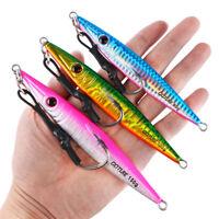 3pcs Vertical Jig Lures Butterfly Saltwater Metal Spoon Jigging Tuna Kingfish