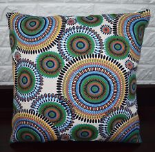 AF255a Orange Green Ethnic Cotton Canvas Cushion Cover/Pillow Case Custom Size