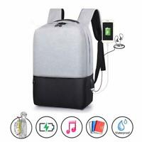 Anti-Theft Backpack Travel School Bags Laptop Shoulder Bag with USB Charger Port