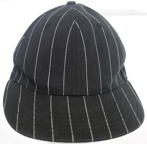 Football / Lacrosse Referee Style Hat Make Cent$ Black & White Fitted Cap Sz M/L