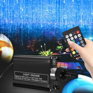LED Sternenhimmel 150 Lichts Glasfaser Optik Lichteffekte RGBW mit Fernbedienung