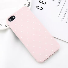 For Apple iPhone X 8 5 6s 7 Plus Polka Dot Pattern Silicone Soft Back Case Cover