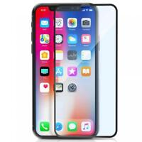 For iPHONE X / XS - TEMPERED GLASS SCREEN PROTECTOR ANTI-GLARE CURVED EDGE FULL