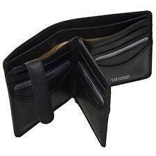 Visconti TSC43 Mens RFID Secure Blocking Leather Bifold Wallet ID  Holder Black