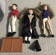 Mattel Harry Potter & two Hermione figures 1996 talking Hermione untested trunk