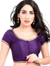 Designer Latest Stitched Purple Bridal Fancy Choli Sari Party Wear Saree Blouse