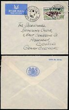FRENCH IVORY COAST 1964 GB OFFICIAL ENVELOPE AIRMAIL HYENAS 45F