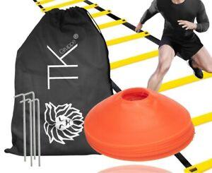 Agility Koordination Set - Trainingsleiter & Markierungshütchen Hütchen Fußball