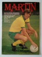 More details for martin peters testimonial programme norwich city v 1966 england world cup squad