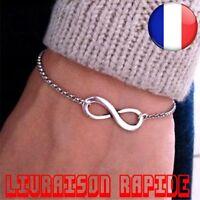 Bracelet Infinity Mode Bijoux Femme Fille 8 Idée Cadeau Charme Pulseiras Infini