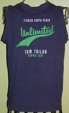 202 ) Blaues Jungen Shirt Top mit Aufdruck Gr. 152 - 158 der Firma Tom Tailor