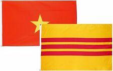 3x5 3'x5' Wholesale Combo Set North & South Vietnam 2 Flags Flag
