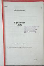 Signalbuch (SB) Deutsche Bundesbahn 15. Dezember 1959 Kopie Lochheftung B28