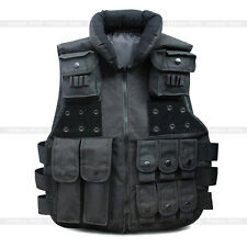 Tactical Vest SWAT Police Black Ammo Military Airsoft Hunting Combat Carrier