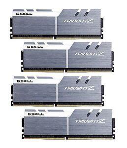 64GB G.Skill DDR4 Trident Z 3200Mhz PC4-25600 CL15 White/Gray 1.35V Quad 4x16GB