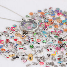 2017 Wholesale 50pcs Charms Floating For Glass Living Memory Locket Necklace New