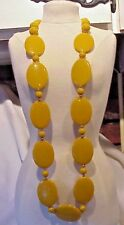 """Vintage Caramel Colored 30"""" Long Necklace So Pretty in Person"""