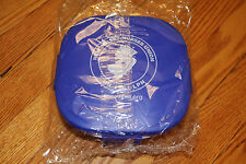 NJ NURSES UNION LUNCH CONTAINER/SALAD BOWL IN PURPLE W/ SMALL DRESSING DISH