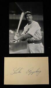 Vintage 1950s Luke Appling Signed Index Card HOF D 1991 JSA Auth