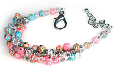 Viva Beads CORAL REEF Crystal Cluster Bracelet Handmade Clay Jewelry