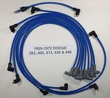 Big Block DODGE 1959-1972 383-400-413-426-440 BLUE Spark Plug Wires-POINTS USA