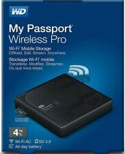WD 4TB My Passport Wireless Pro Portable external HDD (WDBSMT0040BBK)