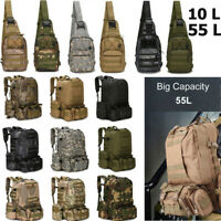 Outdoor Molle Military Tactical Camping Hiking Trekking Bag Backpack 10L/55L NEW