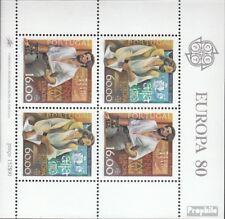 Portogallo Blocco 29 (completa Edizione) usato 1980 Significativa Personalità